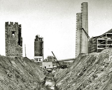 during the construction of the Power Station, 1953