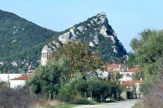 East view of the rock of the castle