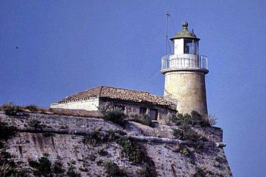 The lighthouse at the top of the old fortress