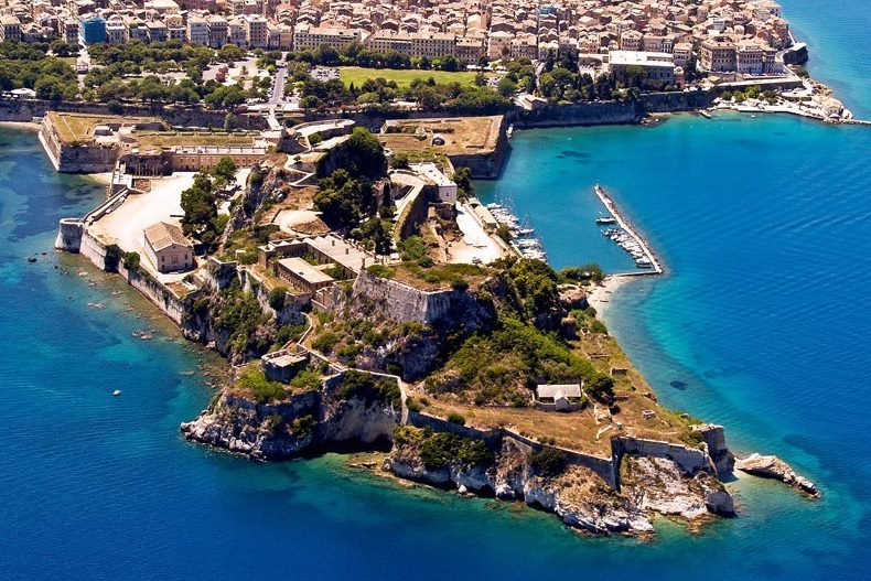General view of Corfu old fortress