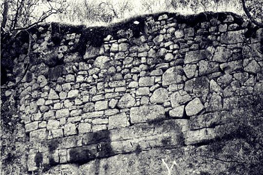 detail of the wall