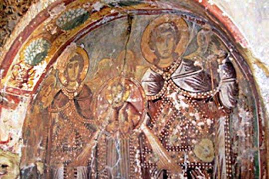 Fresco of the Frankish Lords (among the ruins)