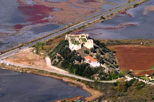 Castle of Grivas<br/>Air view
