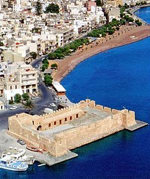 aerial view of the castle of Ierapetra