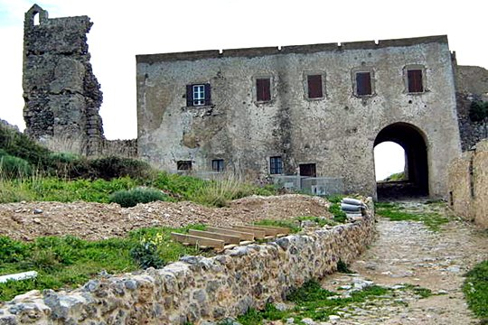 Castle of Chora of Kythira<br/>Inside the castle