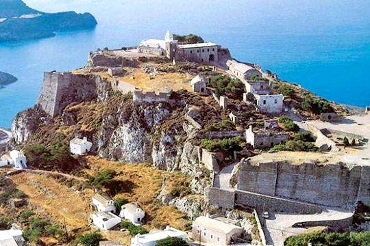 aerial view of the castle of Kythira
