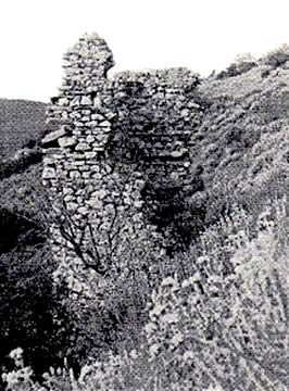 old photo of the only standing tower