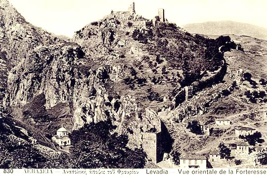 An old post card with the Livadia castle