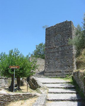 The entrance to the citadel (above Mystras)