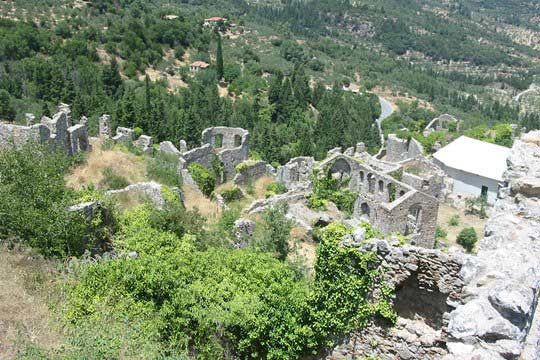 View from the citadel of Mystras