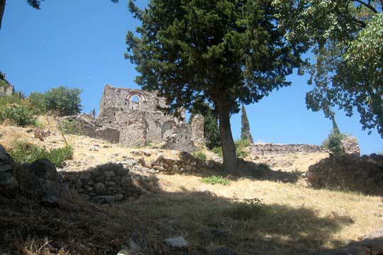 One of the ruined churches of Mystras
