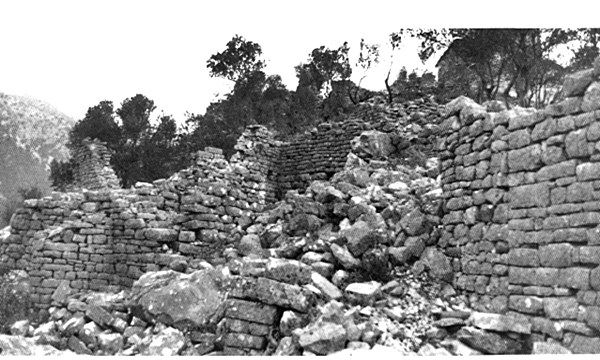 Ruins of the Byzantine settlement