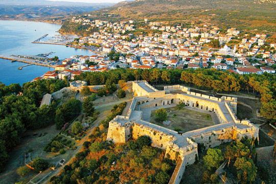Aerial view of the castle of Pylos