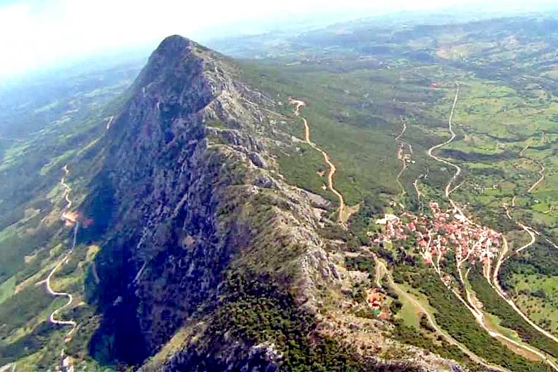 aerial view of Santameri mount