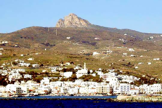 The Xomburgo hill as seen fron Tinos