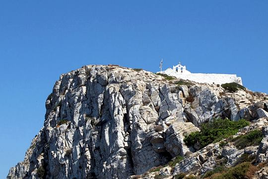 View of the rock of the monastery from Chora
